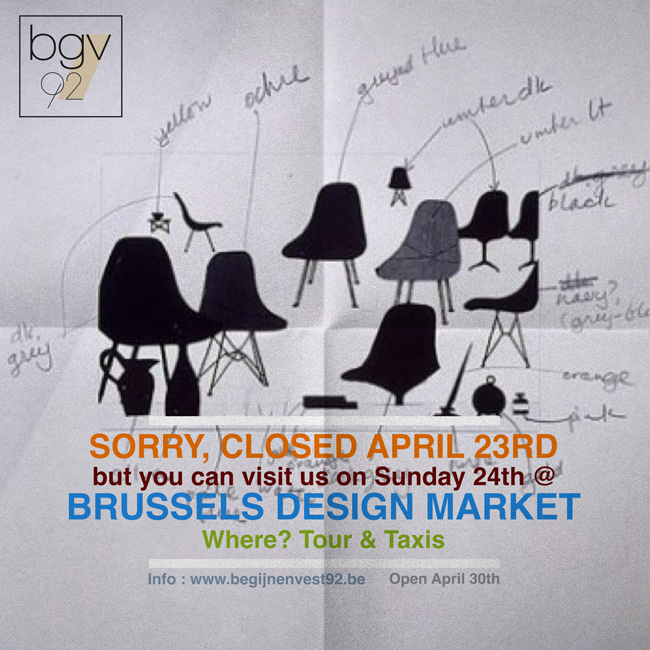We're on location this weekend @ Brussels Design Market / Tour&Taxis