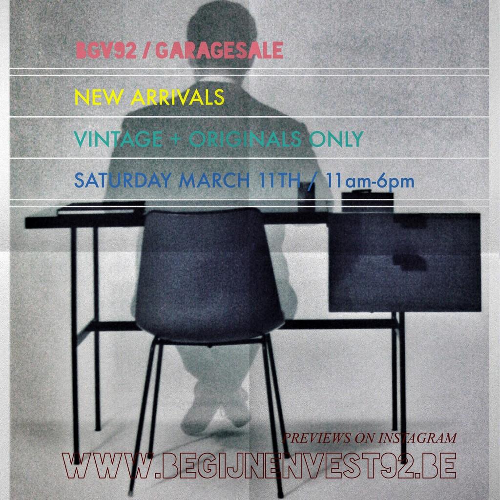 Zaterdag 11 maart // new arrivals